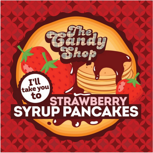 Strawberry Syrup Pancakes - Big Mouth
